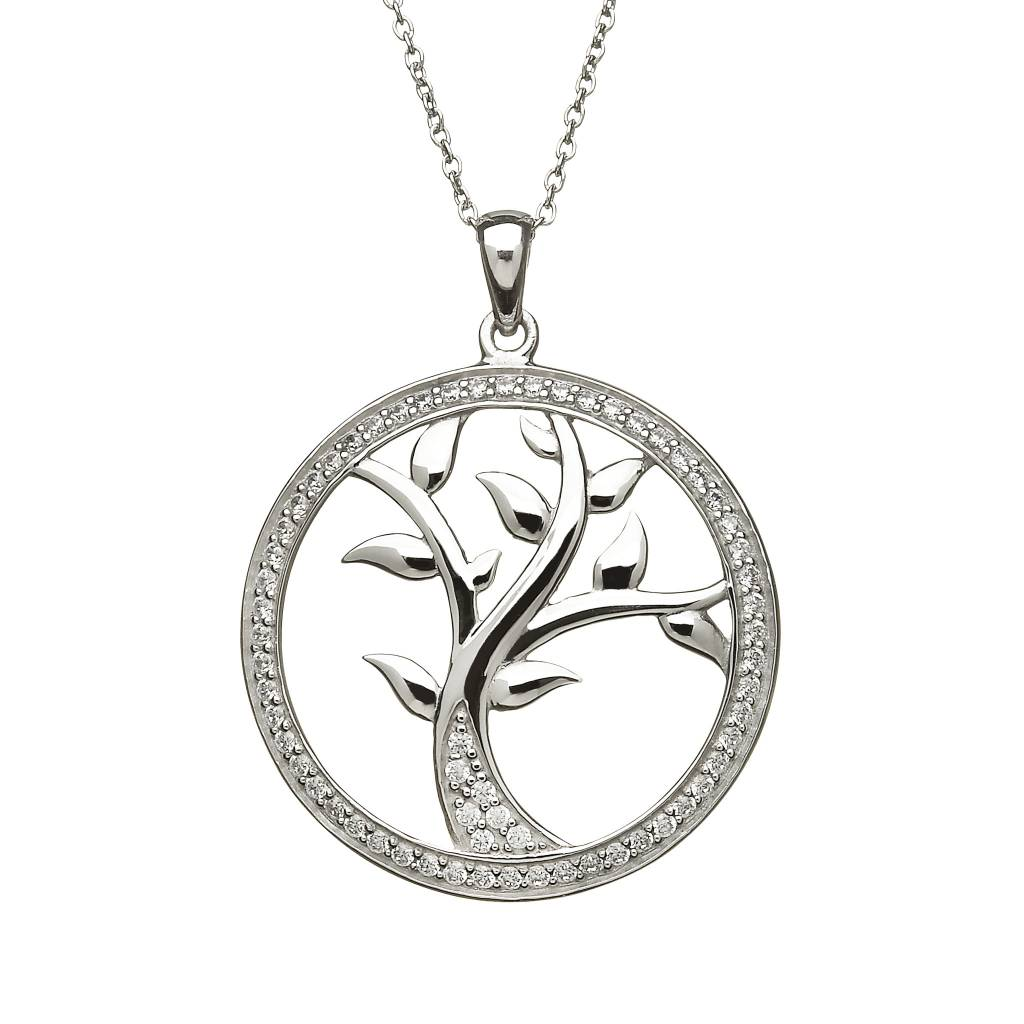 Anu Pendant: SS CZ Tree of Life