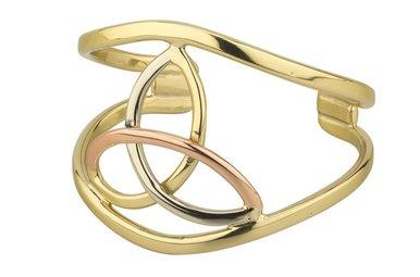 Bracelet: Bangle 3 Color Trinity Knot