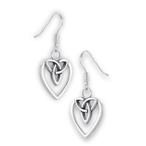 Earrings: SS Celtic Heart