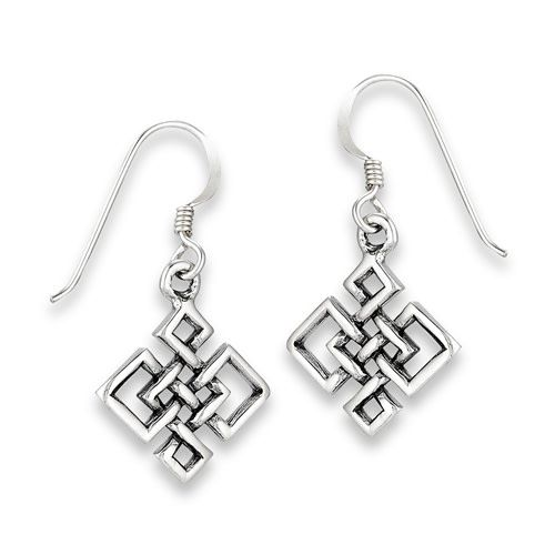 Earrings: SS Endless Knot