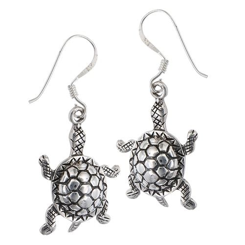 Earrings: SS Large Turtle