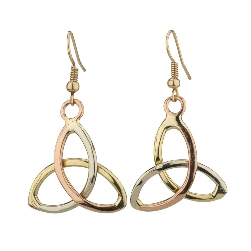 Earrings: Trinity Tri Tone