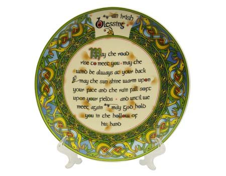 Clara Plate: An Old Irish Bless, 8""