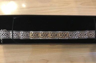 Bracelet: SS Oxidized 10K Warrior Bracelet