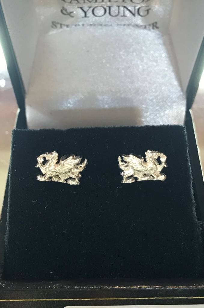 Earrings: Welsh Dragon Stud