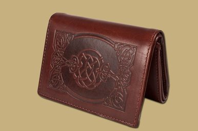 Wallet: Sean Tri Fold Brown Leather