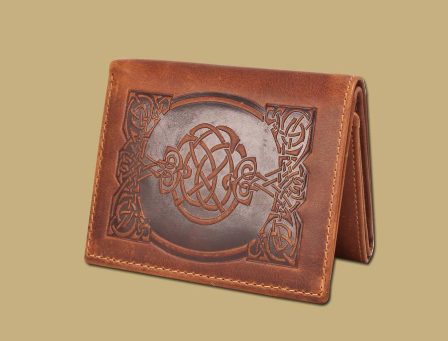 Wallet: Sean Tri Fold Tan Leather