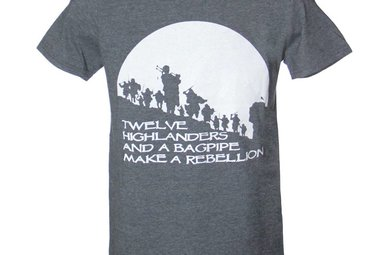 T Shirt: Bagpipe Rebellion