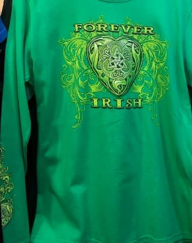 T Shirt: Long Sleeve Forever Irish