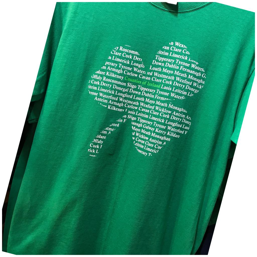 T Shirt: Counties of Ireland Shamrock
