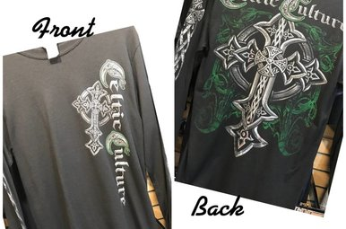 T Shirt: Long Sleeve Celtic Culture