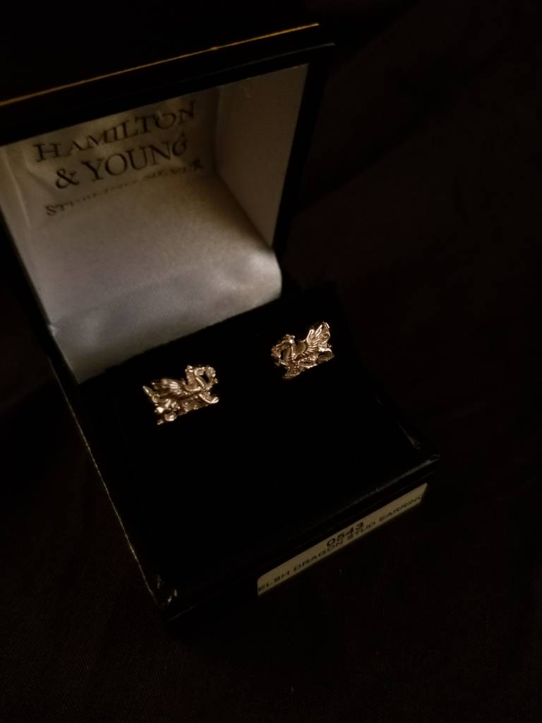 Earrings: Welsh Dragon Stud