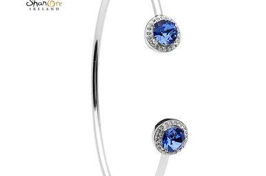 Bracelet: Bangle Halo Sapphire