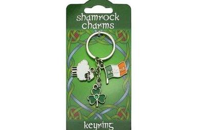 Keyring: Shamrock Sheep Charms