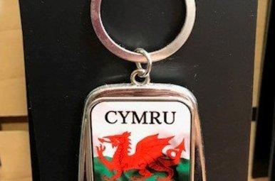 Keychain: Wales Flag Bottle Opener