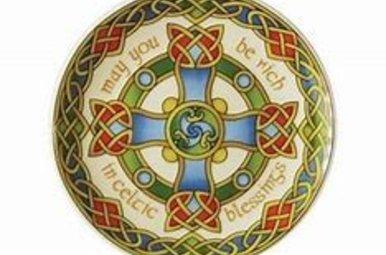 Plate: Celtic Weave Cross 8