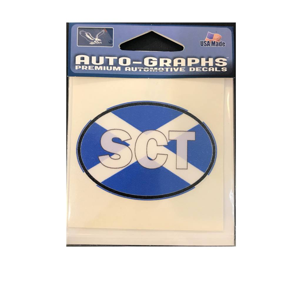 Sticker: Flag Oval, Scotland ABV (SCO) mini
