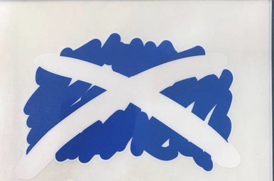 Sticker: Scribble Flag, Scotland