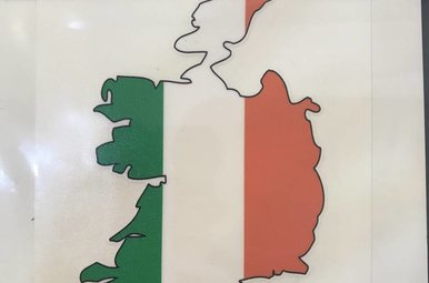 Sticker: Flag Country, Outline, Ireland