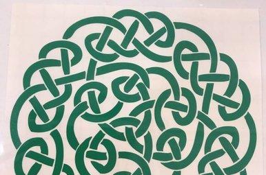 Sticker: Celtic Circle, Green