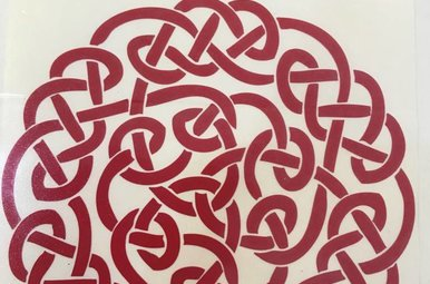 Sticker: Celtic Circle, Red