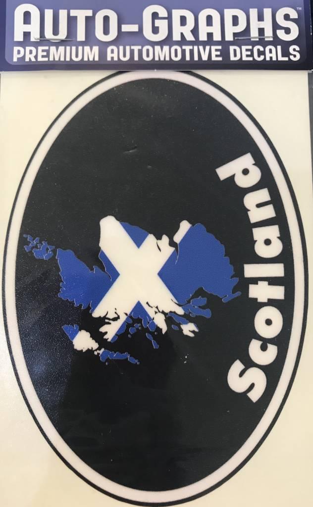 Sticker: Flag Country, Oval, Scotland