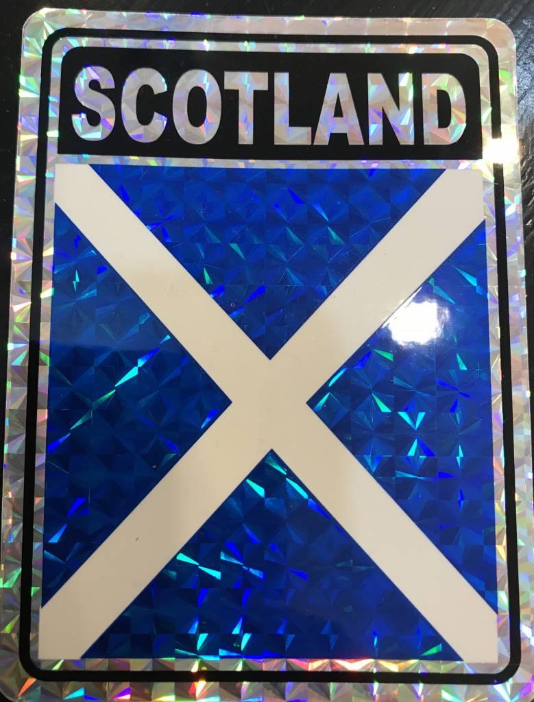 "Decal: Vinyl Reflective Scotland Cross 3""x4"""