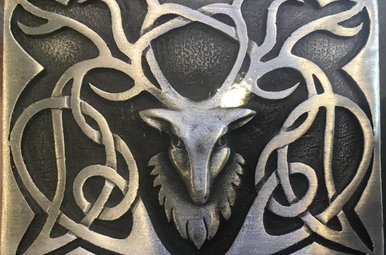 Buckle: Pewter Stag
