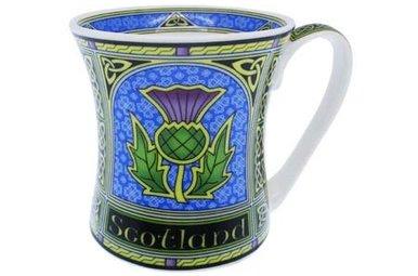 Mug: Scottish Thistle Window