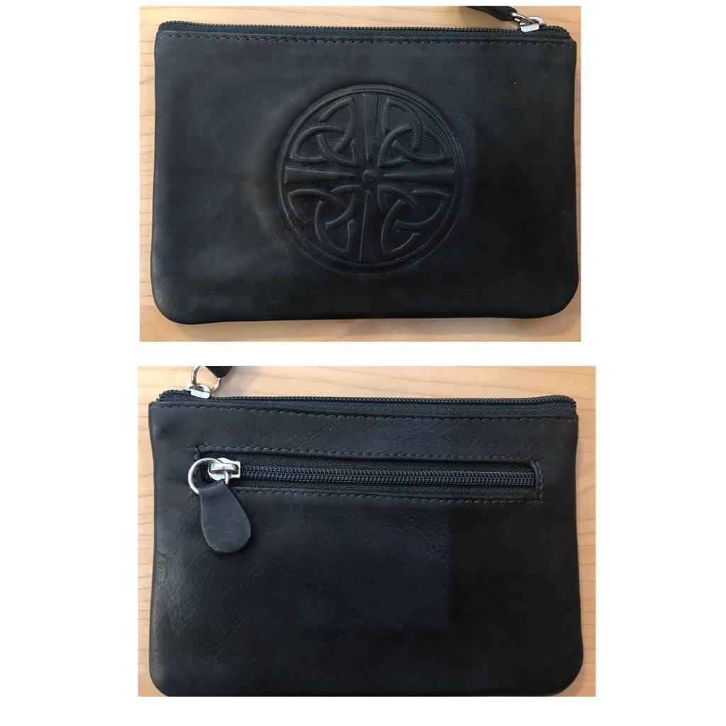 Coin Purse: Leather Celtic Knot