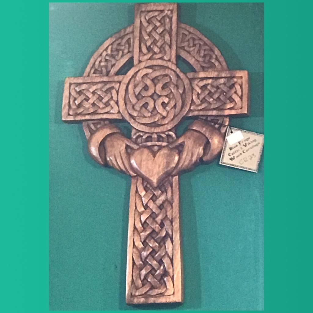 Plaque: Celtic Cross Claddagh