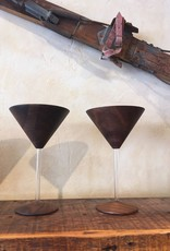 RASMU Wood Martini Glass