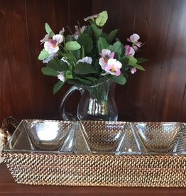 CALA RECTANGLE TRAY / GLASS BOWLS