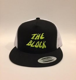 BLOCK Block Y/G Swamp Trucker hat Black/White