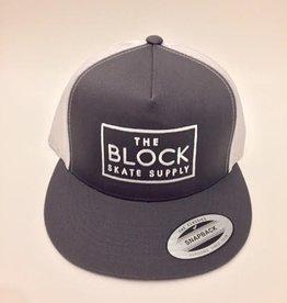 BLOCK Block Trucker Hat Charcoal/White