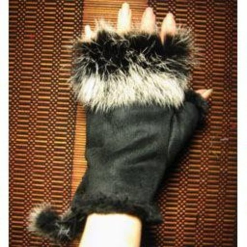 Suede And Fur Glove
