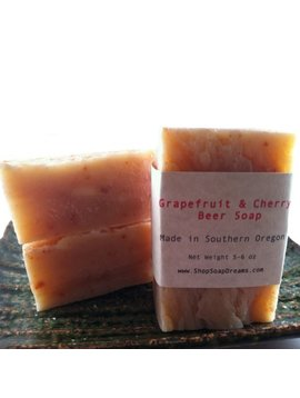 Grapefruit and Cherry Beer Soap