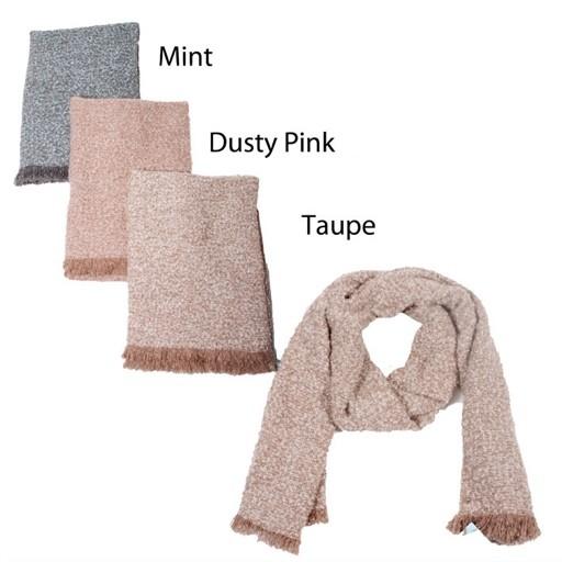 Woven Blanket Fringe Scarf