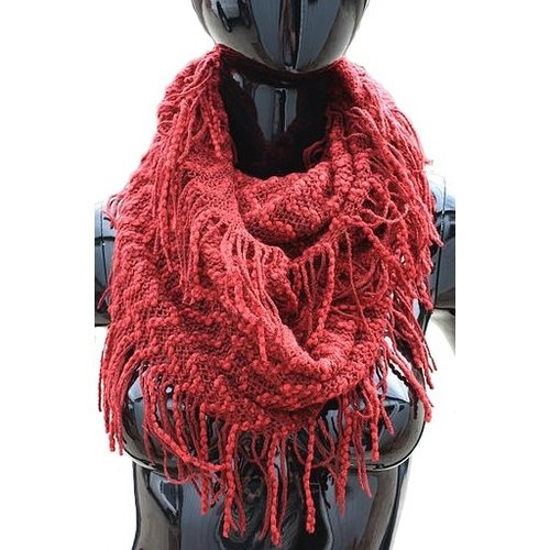 Fringy Knit Scarf