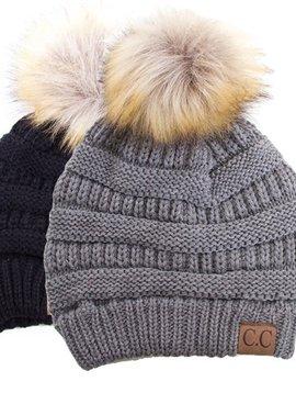 CC Fur Puff Hat