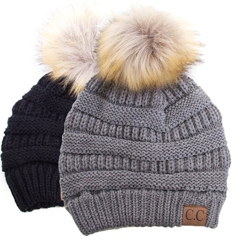 CC Fur Puff Hat