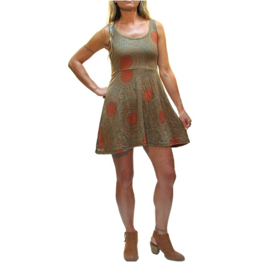 Gypsy Chic Skater Dress, Mandala