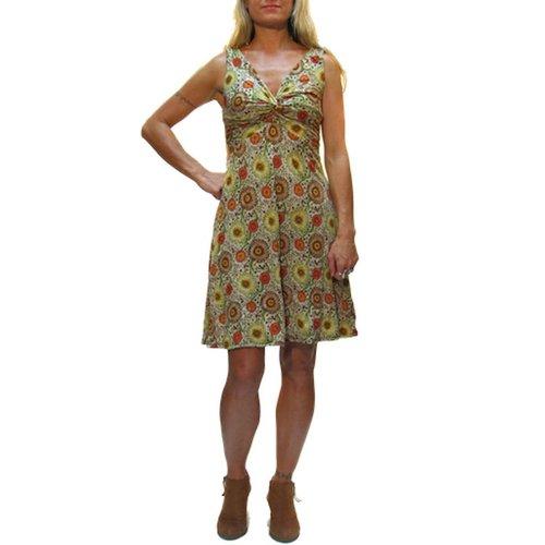 Gypsy Chic Strappy Twist Dress, Sunflower