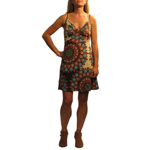 Gypsy Chic Little Twist Dress, Flower