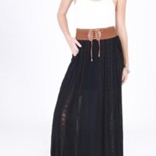 Double Zero Clementine Maxi Skirt