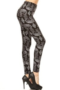 Red Ribbon Mirrored Elephant Leggings