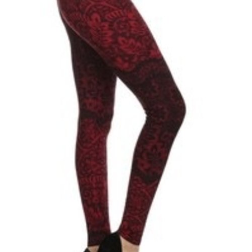 Red Ribbon Crimson Lace Legging