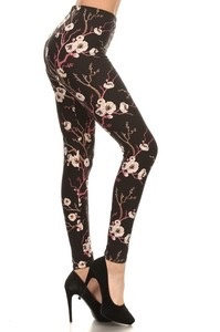 Red Ribbon Cherry Blossom Legging