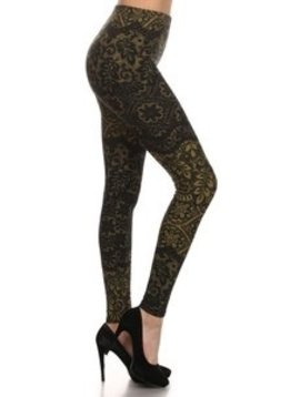 Red Ribbon Olive Tree Lace Legging
