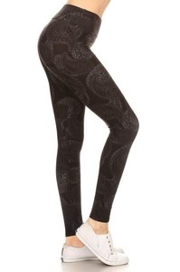 Red Ribbon Faded Paisley Legging